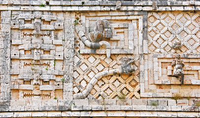 Details of the Nunnery Quadrangle, .Uxmal, Yucatan