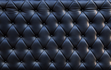 close up of blackish luxury sofa leather texture use as textured