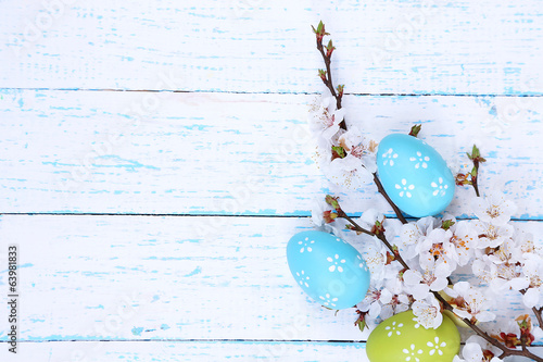Easter composition with flowering branches - 63981833