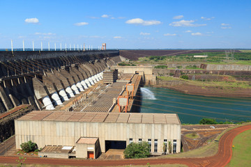 Hydroelectric power station Itaipu Dam, Brazil, Paraguay