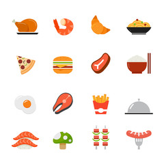 Food icon. Flat full colors design.