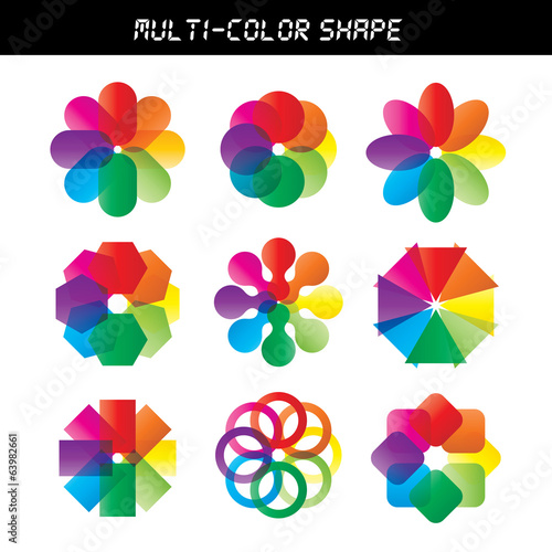 Color flower vector wheel