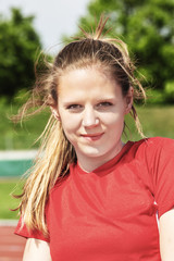 Young-female-track-and-field-athlete