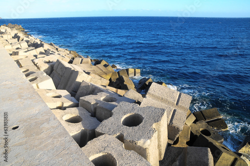 Cubes of Cement Breakwater