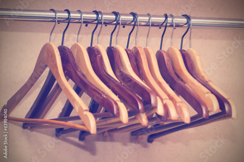hangers for clothes hang in the closet