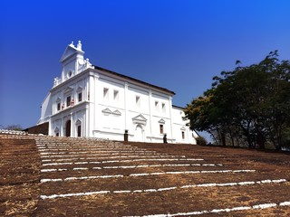 white church on mountain