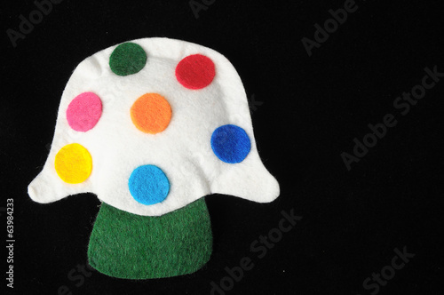 Cloth Multicolored Mushroom
