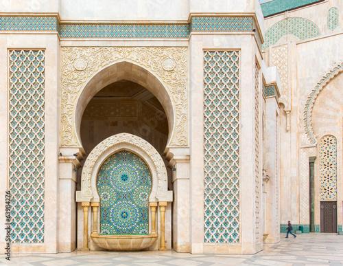 Detail of Hassan II Mosque in Casablanca, Morocco - 63984276