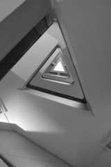 Pattern of triangle stair in black and white tone