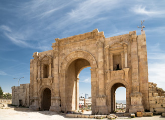 Arch of Hadrian in Jerash, Jordan