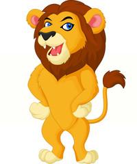 Carton lion posing