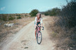 beautiful girl hipster bike