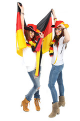 Fußballfans mit Fahne