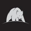 Vector image of a white bear