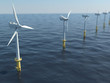 canvas print picture - Windpark - Offshore