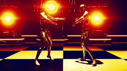 Robot Dance Gold (Strobe Light)