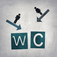 Direction to WC