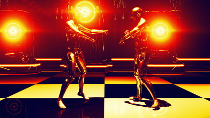 Robot Dance Gold