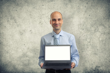 Men with laptop