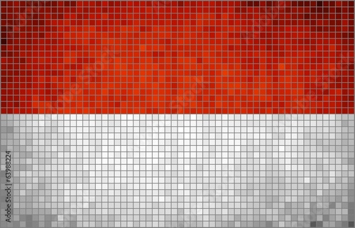 Abstract Mosaic Flag of Indonesia