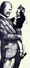 Caricature of Benito Mussolini