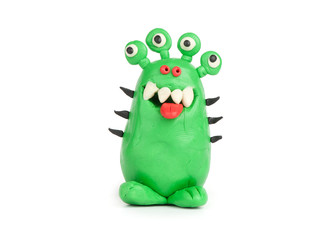 Green Monster of plasticine