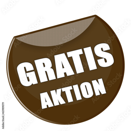Button Gratis Aktion in braun - g861