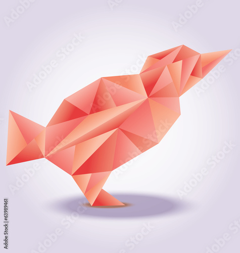 Red bird poly stylezed