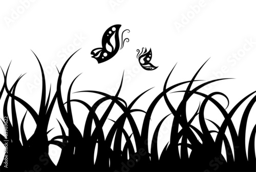 Grass Set Silhouette