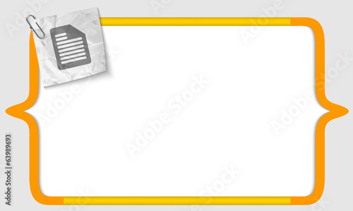 vector brackets with crumpled paper and document icon
