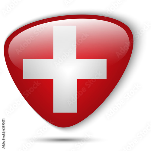 Switzerland Flag Glossy Button