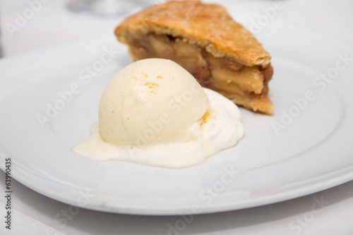 Apple Pie and Vanilla Bean Ice Cream