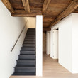 beautiful modern loft, view of the staircase