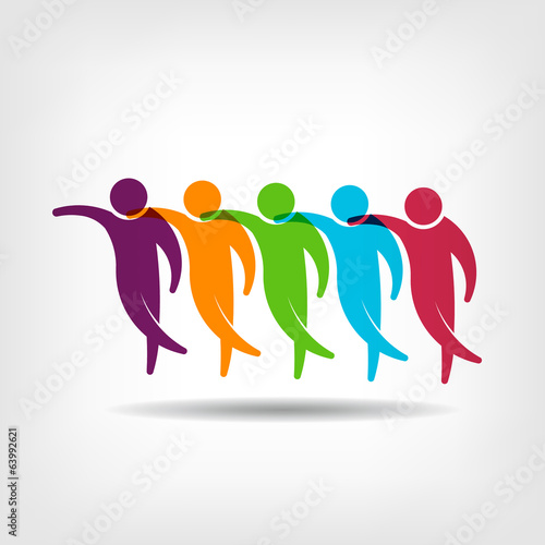 Group of friends holding each other  Logo image