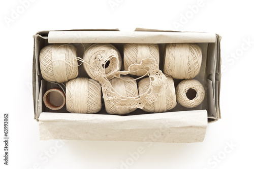 box of yarn