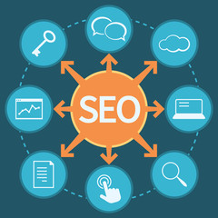 SEO marketing concept