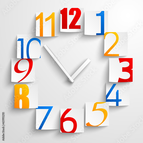Abstract paper clock