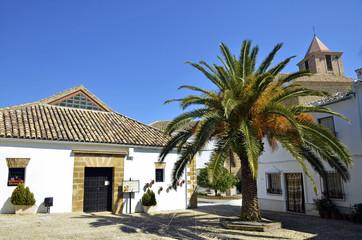 Small square in Iznajar, Spain