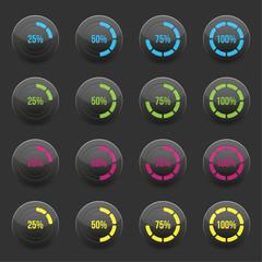 Round progress bar element