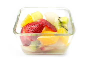 Fruti Salad in the glass plate