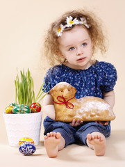 Little girl celebrating Easter