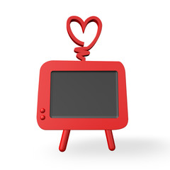 retro vintage styled red television
