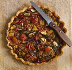 Roasted vegetable tart