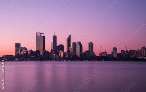 Perth city skyline at night - 63996485