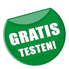 Button - Gratis testen - grün - g870