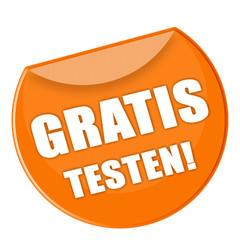 Button - Gratis testen - orange - g872
