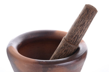 traditional handmade mortar & pestle set
