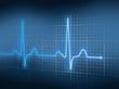 Leinwanddruck Bild - EKG