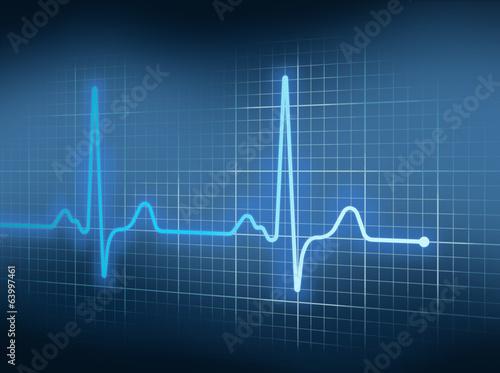 Leinwanddruck Bild EKG