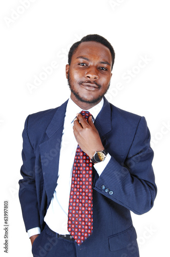 Black man in business suit.